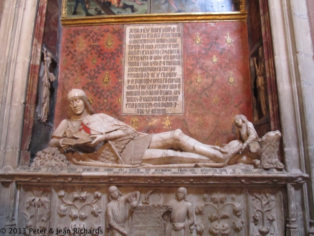 One of Spain's most important pieces of funerary sculpture at the Cathedral in Sigüenza: the page of Isabel the Catholic