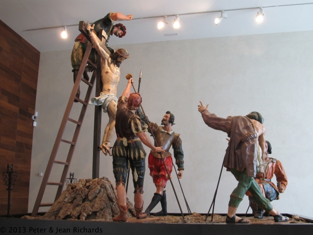 Processional sculpture at National Museum of Sculpture in Valladolid